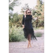 Suknelė su tiulio sijonu