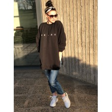 Juodas relax džemperis
